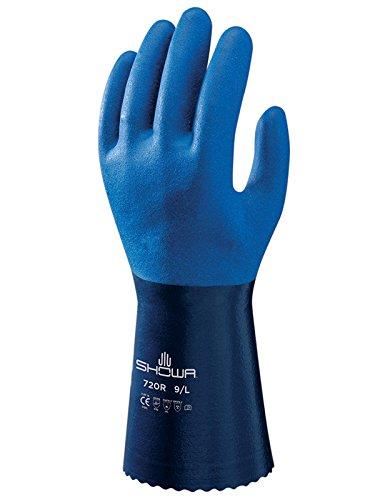 Showa Guanti sho720-xxl n. 720NBR Guanto Guanto, taglia: XXL, colore: blu (Confezione da 2)