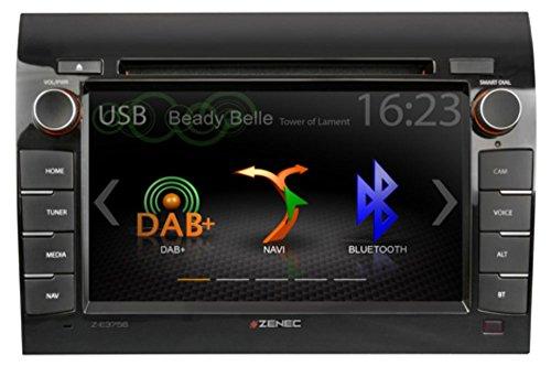 Zenec Z-E3756 Navitainer für Fiat Ducato, Citroen Jumper, Peugeot Boxer mit DAB+ / Camper - Navigation / CD/DVD Laufwerk / Bluetooth und USB