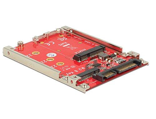 DeLock 6,35cm 2,5Zoll Konverter SATA 22 Pin > M.2 / mSATA mit Rahmen 7 mm -