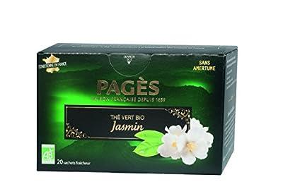 PAGÈS Thé Vert Classique 20 Sachets - Lot de 4