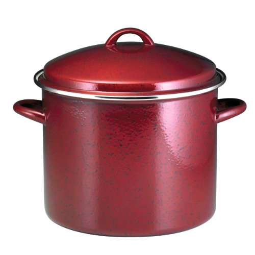 paula-deen-signature-enamel-on-steel-12-quart-covered-stockpot-red-speckle