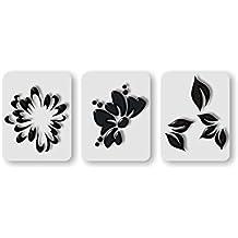 36aerógrafo Nail Art Plantillas autoadhesivas–Floral en Juego