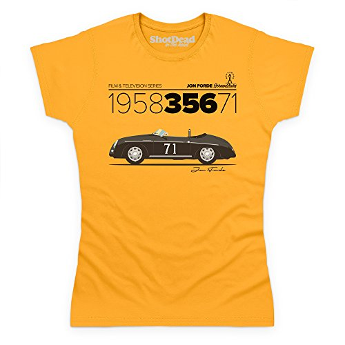 Jon Forde 1958 356 71 T-Shirt, Damen Gelb