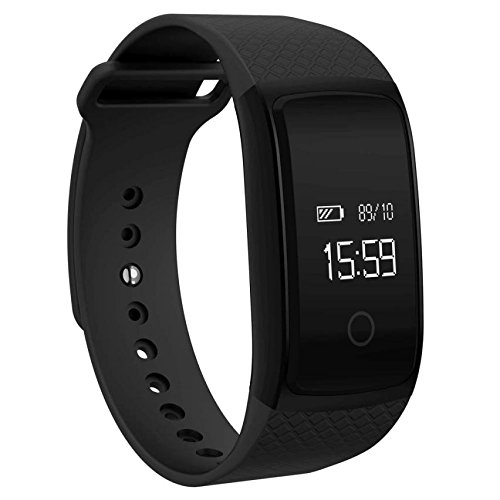 efanr A09 Smart Band Armband Armbanduhr Bluetooth-Wasserdicht IP67 Smartwatch Armbanduhr Schrittzähler Fitness Activity Tracker NFC Herzfrequenz Monitor für iPhone IOS Android Smartphones