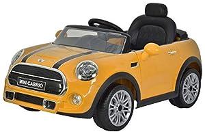 GLOBO- Mini Cooper Cabrio F57 Ride On Electric 12V Orange (38970), Color (1)