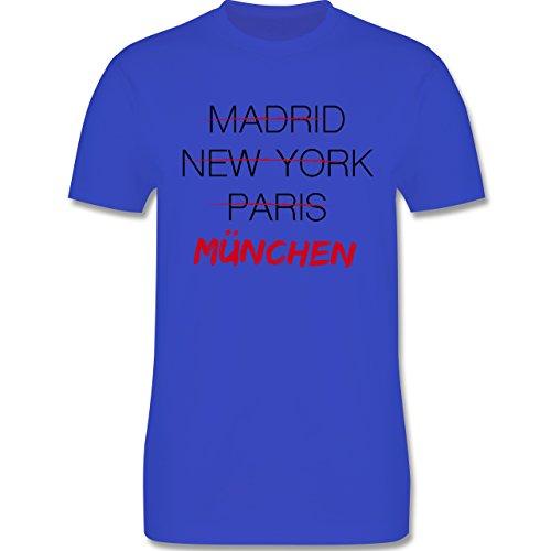 Städte - Weltstadt München - Herren Premium T-Shirt Royalblau