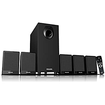 Philips DSP 2800 5.1 Speaker System (without USB Port & Aux Cable)