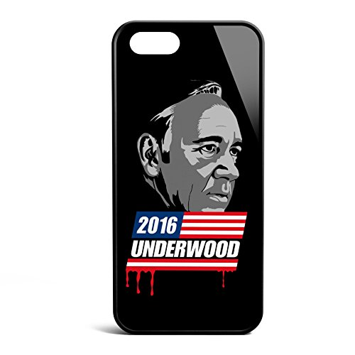 Smartcover Case Underwood 2016 z.B. für Iphone 5 / 5S, Iphone 6 / 6S, Samsung S6 und S6 EDGE mit griffigem Gummirand und coolem Print, Smartphone Hülle:Samsung S6 EDGE weiss Iphone 5 / 5S schwarz