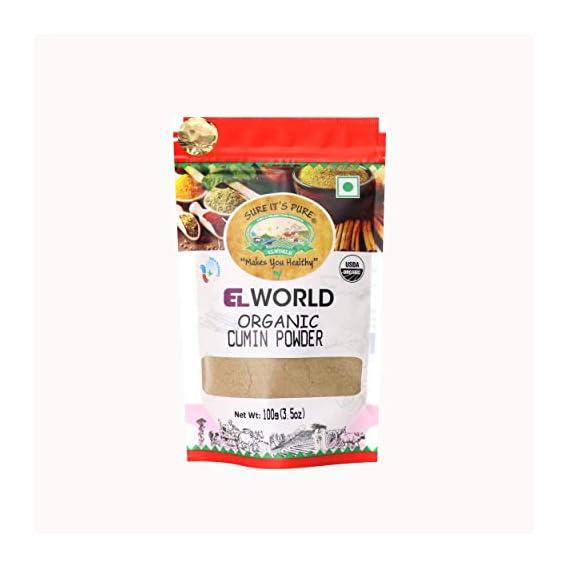 Elworld Organic Cumin(Jeera) Powder, 100 Grams X 2 (Pack of 2)