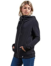 Volcom Walk on by Zip FLCE – Chaqueta con Capucha para Mujer, Gris, Small