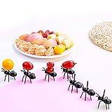 Skyoo Juego DE 36 Tenedores de Postre de plástico con Diseño de Hormigas Frutas, para Decoración del hogar, Aperitivos, Postre, Fiestas, Picos, hogar, Cocina, Gadgets