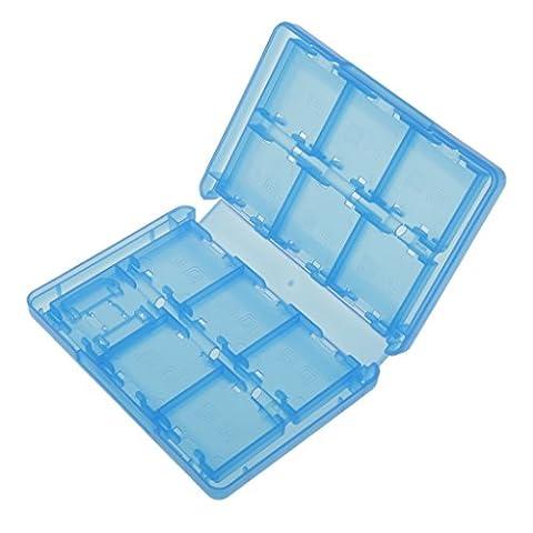 Blau 28-in-1 Spiele Karte Case Box Tasche Fuer Nintendo 22¡Á3DS 2¡ÁSD 2¡ÁTF 2¡ÁStift
