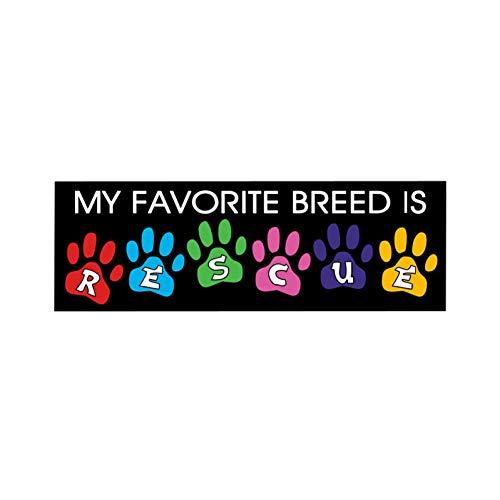 DYTE Auto Aufkleber 15,5 cm * 5 cm Meine Lieblingszucht Ist Rettungshunde Auto Aufkleber Lustige Aufkleber