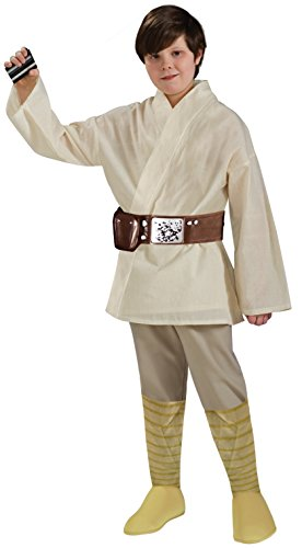 Star Wars Deluxe Luke Skywalker Kostüm Kinderkostüm Science Fiction Gr. S - L, (Party Science Kostüm Fiction)