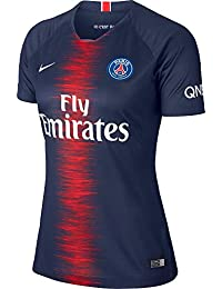 391aed2c0757e3 Nike 2018-2019 PSG Home Womens Football Soccer T-Shirt Maillot