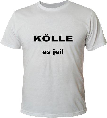 Mister Merchandise Cooles Fun T-Shirt Kölle es jeil Weiß