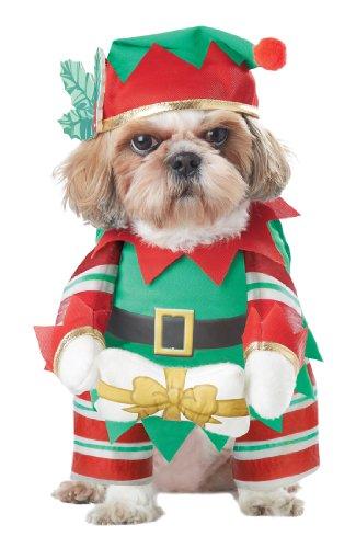 Elf Pup Dog Kostüm, groß (Großer Hund Elf Kostüm)
