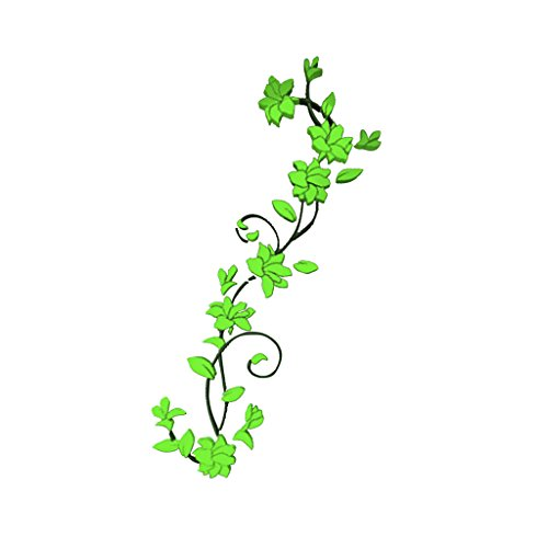 magideal-autocollants-muraux-floral-en-acrylique-sticker-decoratif-interieur-vert