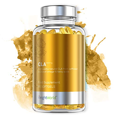 CLA Kapseln | 90 Hochdosierte Softgel Kapseln | Mit 1.000mg Konjugierter Linolsäure | Reine & Natürliche CLA Fettsäure | Nahrungsergänzung für Gewichtsverlust