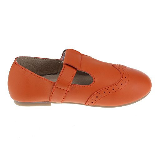 maxu filles T- Sangle Mary Jane Chaussures École robe à plat Orange
