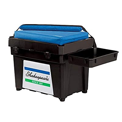 Shakespeare Fully Loaded Seat Box Black - 1476323 by Pure Fishing