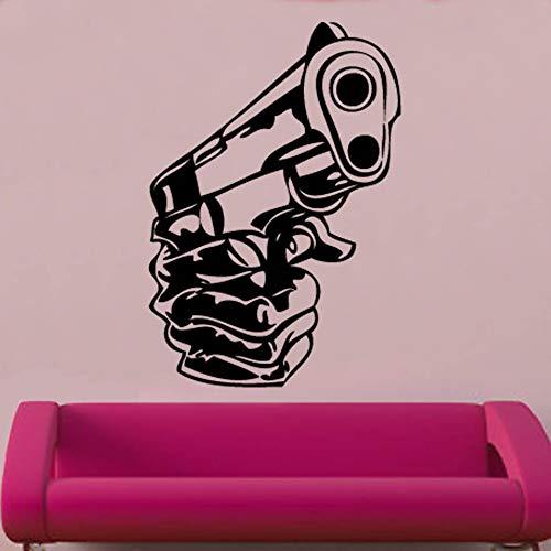 JXYY Ziel Wandtattoo Jungen Name Aufkleber Militär Aufkleber Teen Boys Zimmer personalisierte Vinyl Wandtattoo Sniper Kids Room Decor 57x82cm
