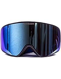 Ocean Sunglasses Aspen - gafas de esquí - Montura : Negro - Lentes : Azul Espejo (YH3801.2)