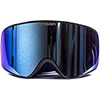 c0fcdb01502 Ocean Sunglasses Aspen - gafas de esquí - Montura   Negro - Lentes   Azul  Espejo