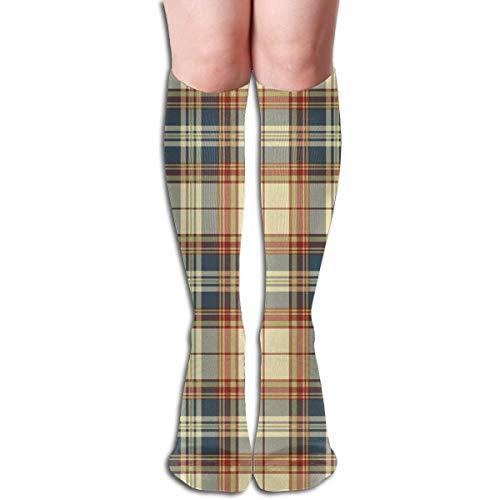 Nifdhkw Happy Thanks Giving Turkey Pumkin Spice Compression Socks Men & Women Running, Athletic Sports - Below Knee High