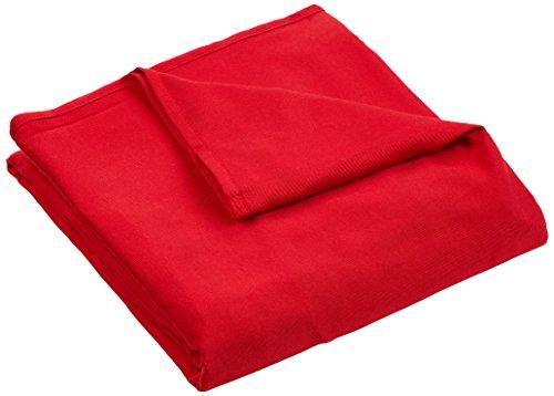 Homemaison.com - copridivano clic-clac con fiocchi, colore: rosso 200 x 140 cm rosso