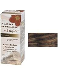 Beliflor04-Nuances et Brillance 2 en 1 coloration douce + baume capillaire 'Reflets Châtaigne' BIO-150ml