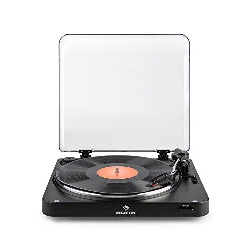 Auna TT-30 BT • Platine Vinyle • Platine-disques • Sortie Line • Émetteur Bluetooth• Adaptateur RCA-USB • Vitesses de restitution : 33, 45 T/Min • Digitalisation de disques • Noir Mat