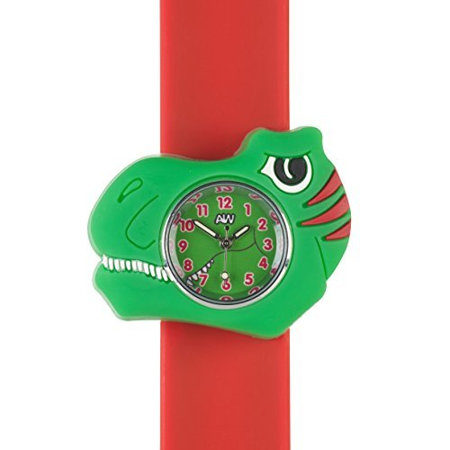 Anisnap watches Anisnap Dinosaur Kids watches snap on wrist splash resistant watch for kids the perfect girls watches and boys watches thats a time teacher and the perfect gift for any occasion birthday gifts or Chri