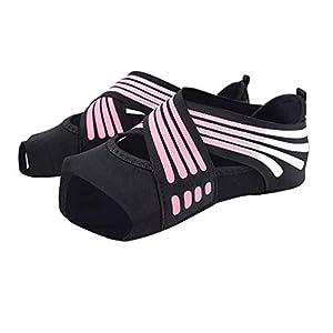 LIOOBO 1 Paar Neue Yoga-Socken rutschfeste weiche toeless Yoga-Socken für Frauen (Größe 35/36 Hof rosa)