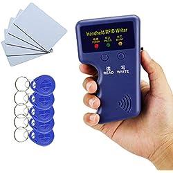 YAVIS Nouveau Handheld 125KHz RFID ID Card Copieur Writer Lecteur Carte Lecteur Duplicator Programmeur + 10 pcs Écriture EM4305 / T5577 clé Carte jeton Tags