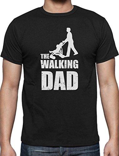 Maglietta the walking dad–divertente idea regalo per festa del papà o compleanno, da uomo black medium