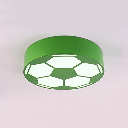 Glühlampen-schiene Leuchte (LED Kinder Deckenleuchte Kreative Fußball Deckenlampen Einfache Kindergarten Decoration Acrylic Lampenschirm Weiß Licht Ø 40cm (Grün))