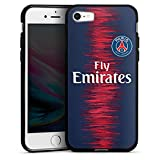 DeinDesign Apple iPhone 8 Coque en Silicone Étui Silicone Coque Souple Paris Saint Germain Produit sous Licence Officielle Maillot PSG