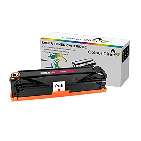Jaune Colour Direct Compatible Laser Cartouche Toner Pour HP Color Laserjet CB542A 125A - Colour Laserjet CP1210 CP1215 CP1215N CP1217 CP1510 CP1514 CP1514N CP1515N CP1518 CP1518NI CM1312 CM1312NF CM1312N