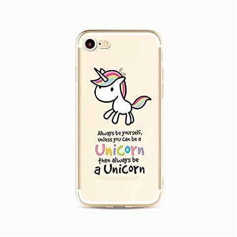 iPhone 5 / iPhone 5 / iPhone 5S Case Cover Skin Case Skin Protector KSHOP Glitter TPU Hybrid Protective Case for iPhone SE / iPhone 5 / iPhone 5S Animation Painted Pattern - Rainbow Unicorn