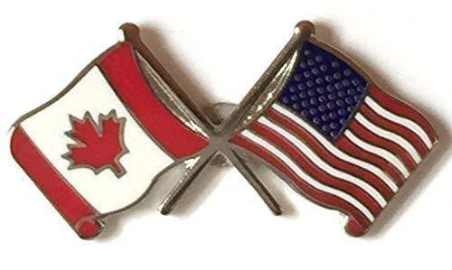 Kanada & USA Freundschaft Flaggen Anstecknadel Emaille T094