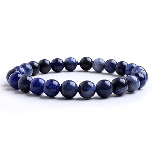 Candyfancy sodalite bracciale perle 8mm braccialetto elastico bracciali pietra naturale rotondo perline braccialetti donna uomo