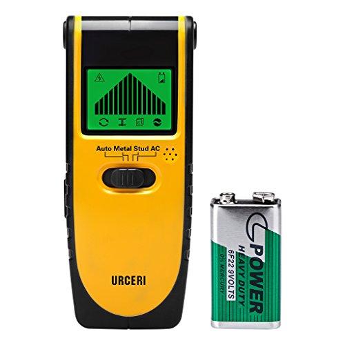 Ortungsgerät, URCERI 3 in 1 Detektor TH115 Multi Wand Scanner Stud Finder mit Automatischer Erkennung, Kantenpositionierung, LCD Display für Metall, Holz Stud, AC Wires