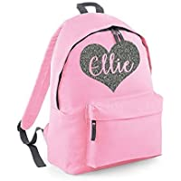 Personalised Heart Name Backpack Rucksack School bags Girls Personalised Bags