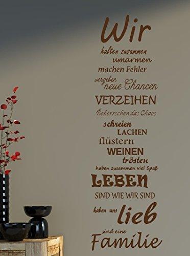 Wandtattoo Spruch Familie Family WIR Haus Liebe Sprüche Spruch Ca.75x25cm  B387 (braun): Amazon.de: Küche U0026 Haushalt