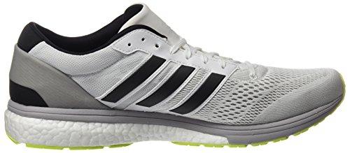 Scarpe Adidas Da Uomo Adizero Boston 6 Bianche (calzature Bianco / Argento Metallizzato / Giallo Solare)