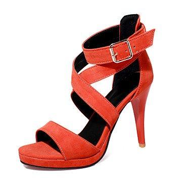 LvYuan Da donna-Sandali-Ufficio e lavoro Casual Serata e festa-Comoda-A stiletto-Finta pelle-Nero Verde Arancione Orange