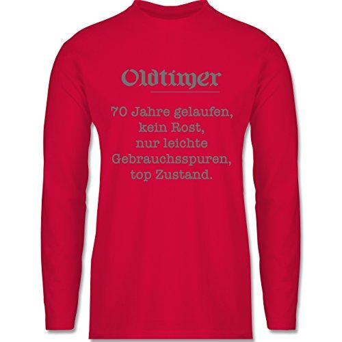 Shirtracer Geburtstag - 70 Jahre Oldtimer Fun Geschenk - Herren  Langarmshirt Rot