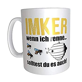 """Kaffeetasse""""Imker-wenn ich renne."""" Kaffeetasse Imker Tasse Geschenk"""