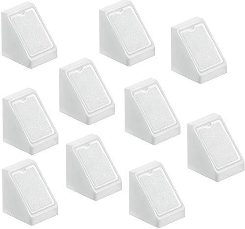 Preisvergleich Produktbild Möbelverbinder Schrank Universal-Eckverbinder weiss mit Abdeckkappe - H9580 / Kunststoff Korpusverbinder zum Schrauben / MADE IN GERMANY / 20 Stück
